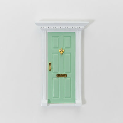 green elf door