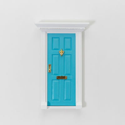 pale blue fairy door