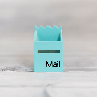 Pale Blue Fairy Mailbox