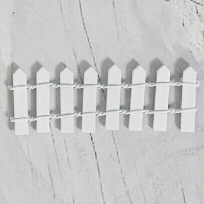 white fairy garden fence
