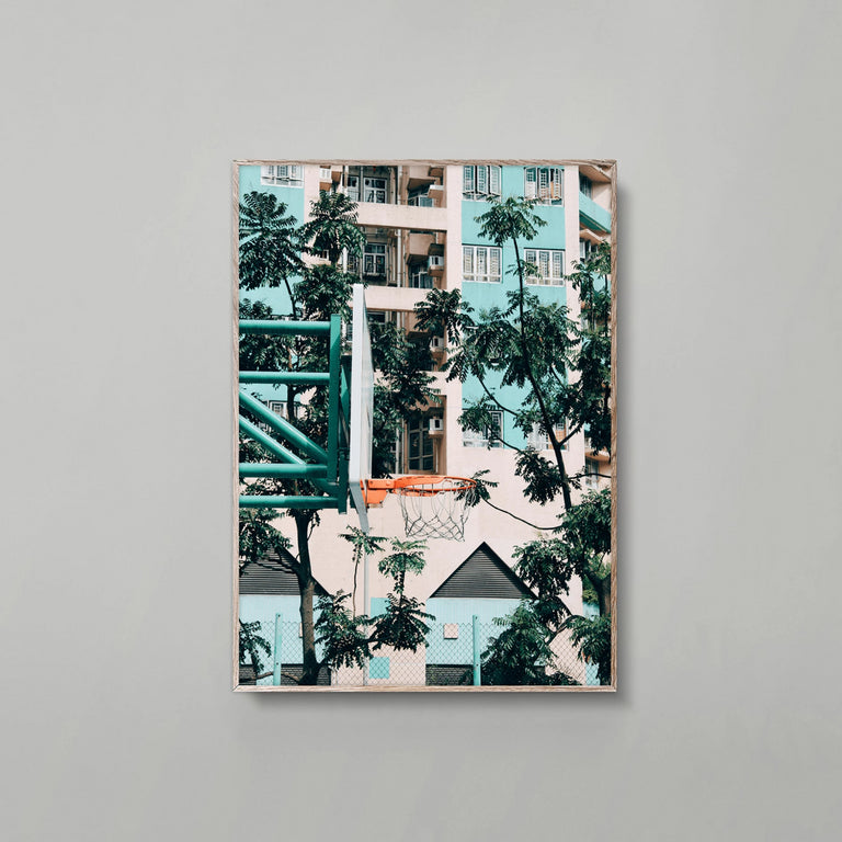Cities of Basketball 01 (Hong Kong) print
