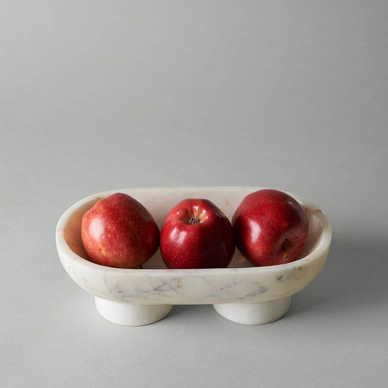 White, Indian Banswara marble, Alza bowl from Ferm Living.
