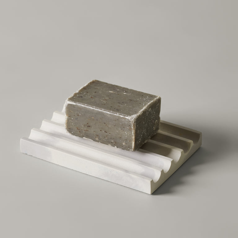 Concrete soap dishes