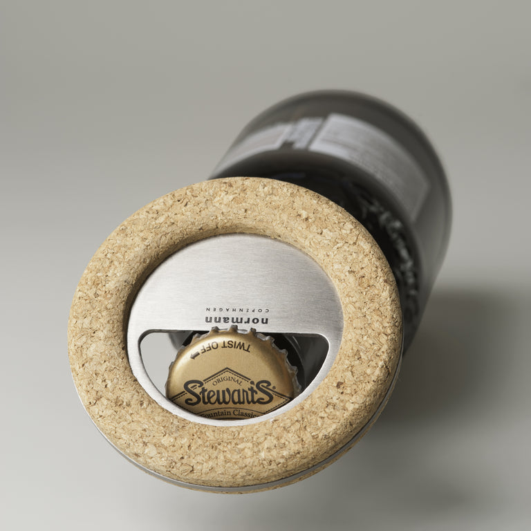 Cork bottle opener
