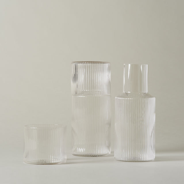 Ripple carafe/glass set