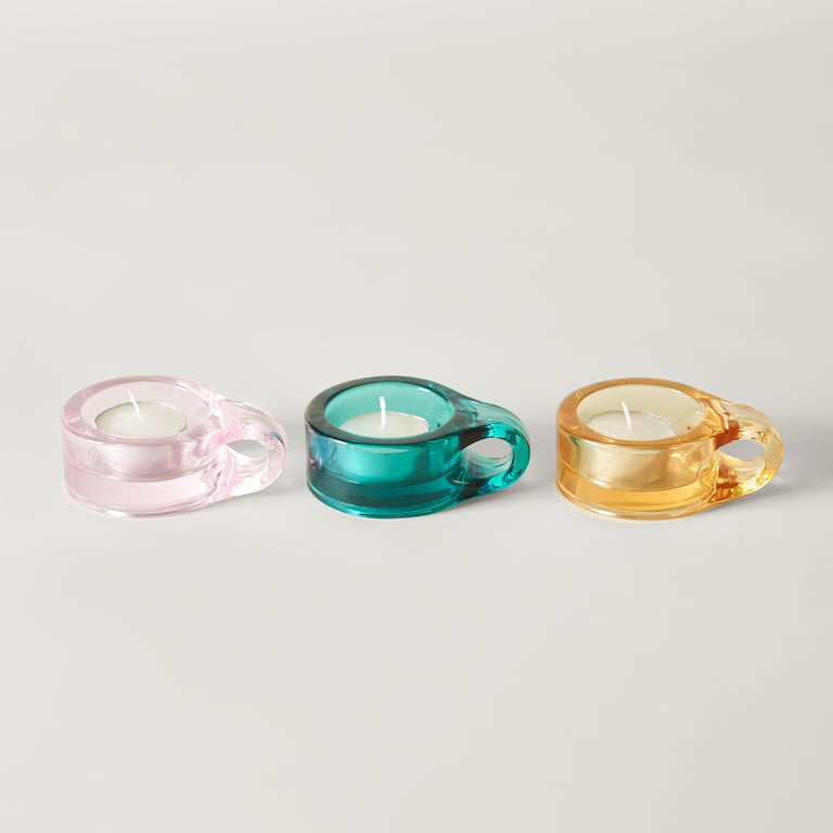 Floe tea light holder