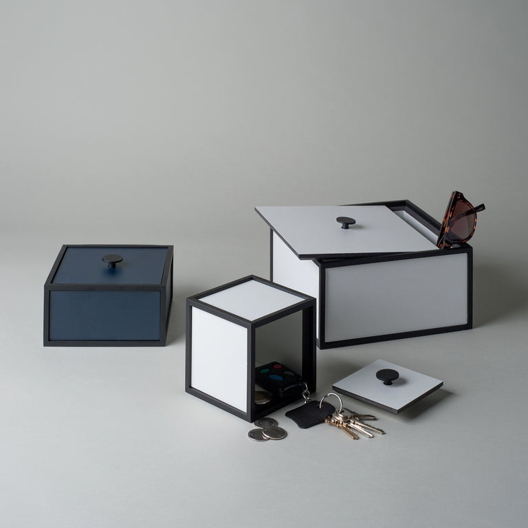 Frame storage boxes