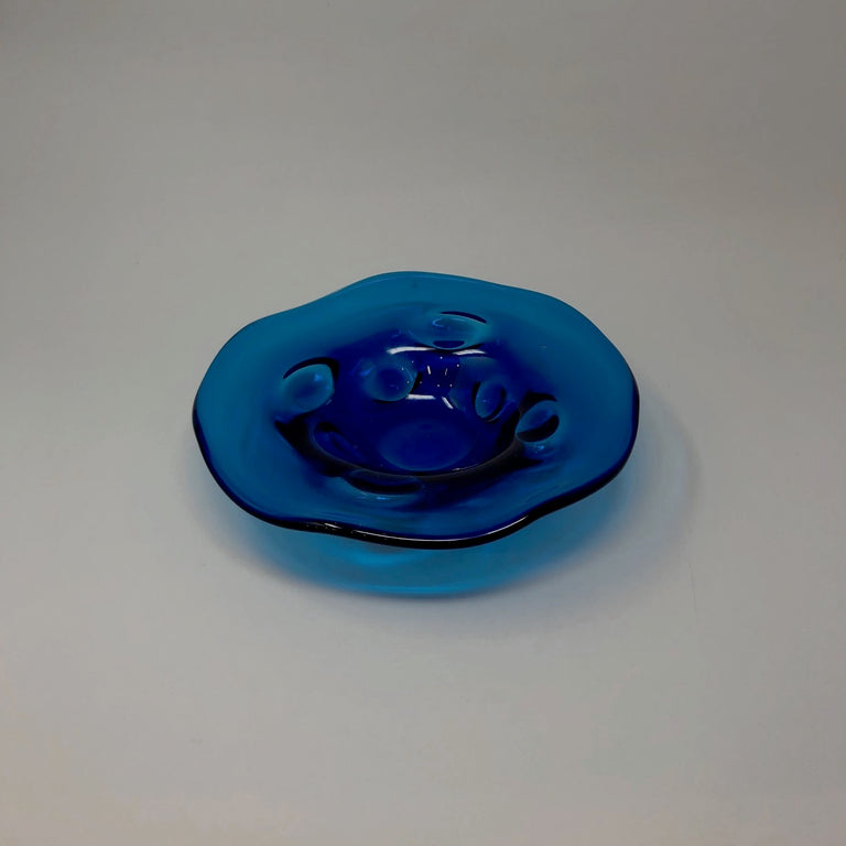 Vintage blue shallow bowl