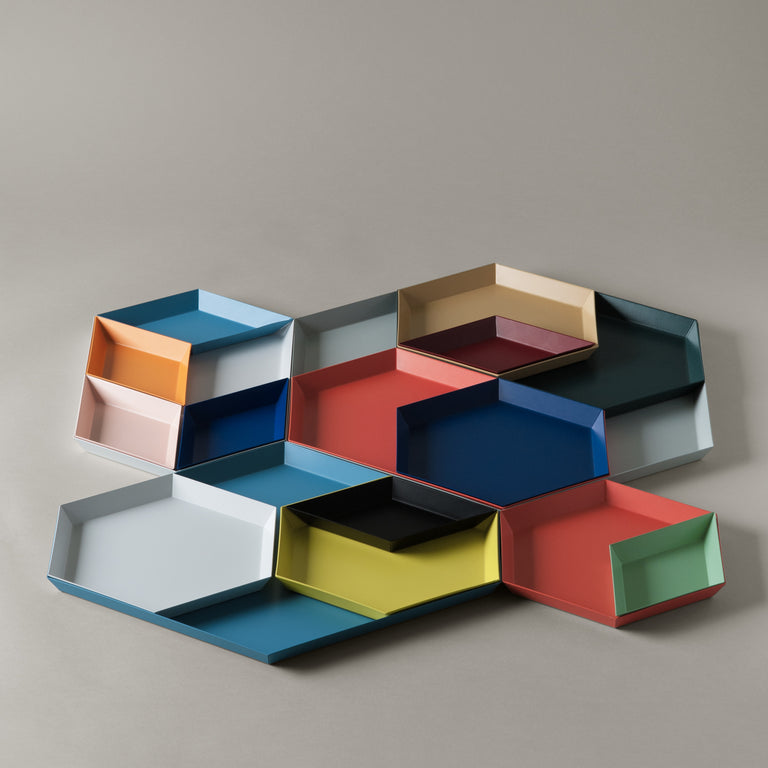 Hay Kaleido trays in variety of colors.