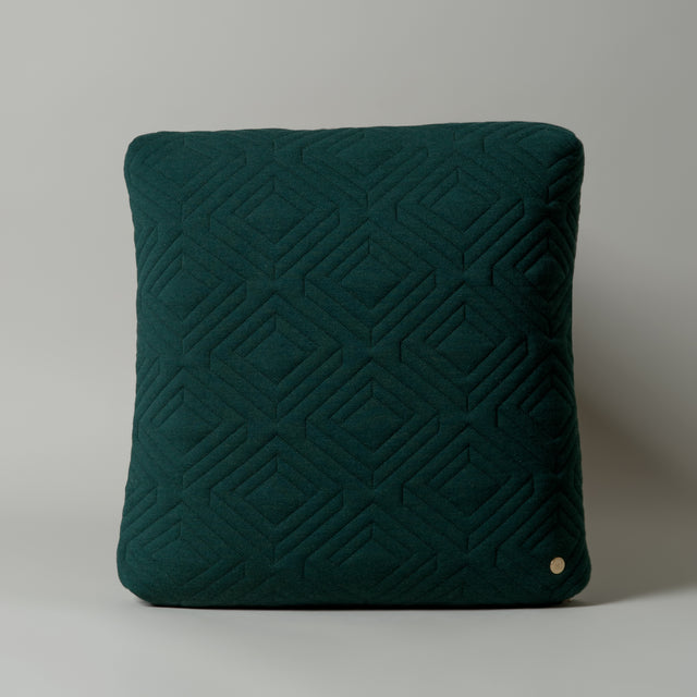 Quilt cushion green