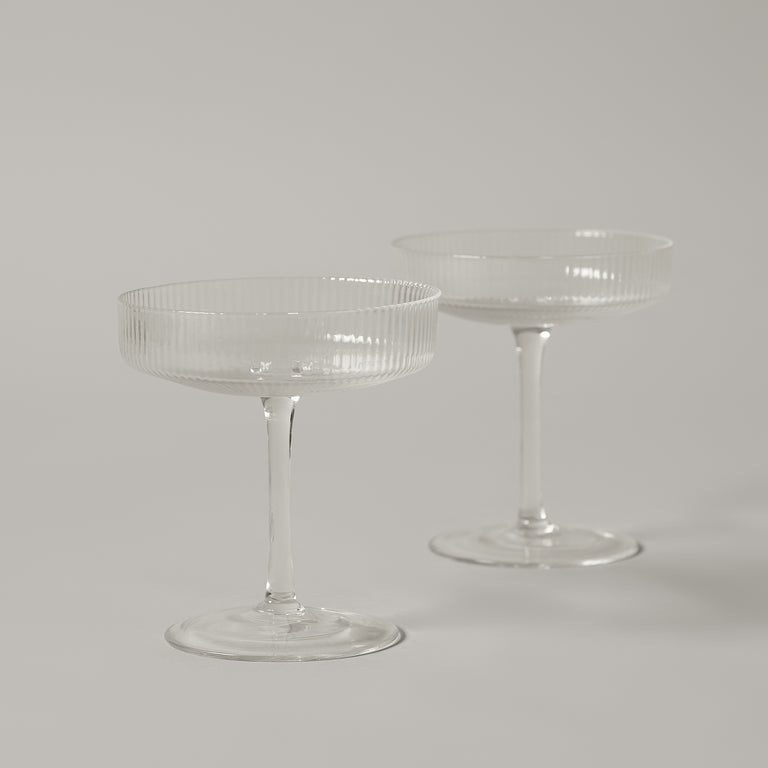 Ripple champagne glasses (set of 2)