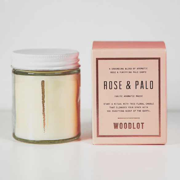 Rose & palo candle