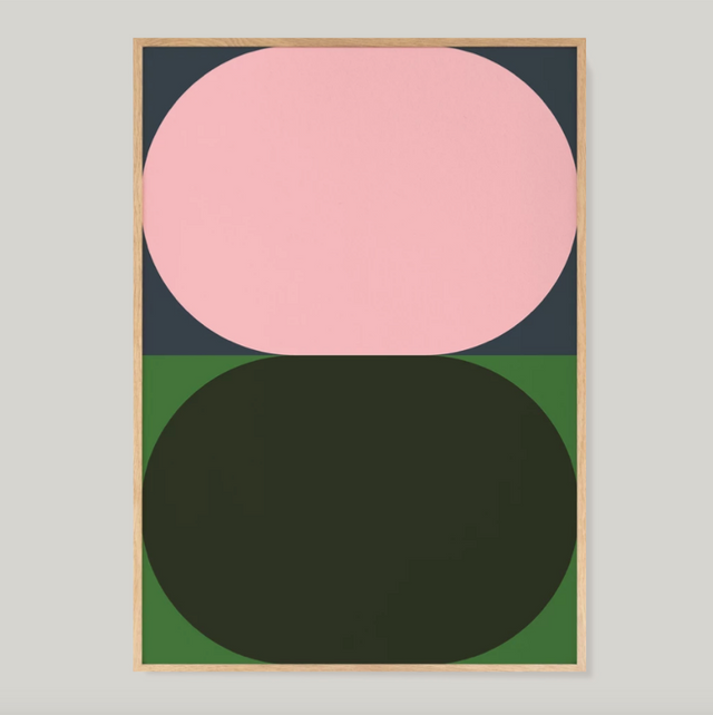 Untitled Color Studies #1 Pink & Dark Olive print