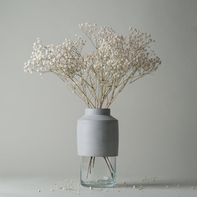 Class and grey concrete Willmann vase from Menu