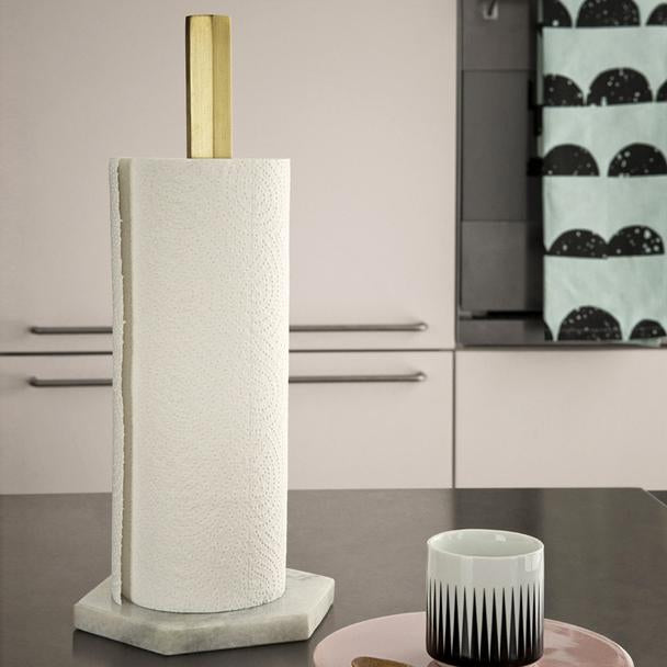 Hexagon paper towel stand