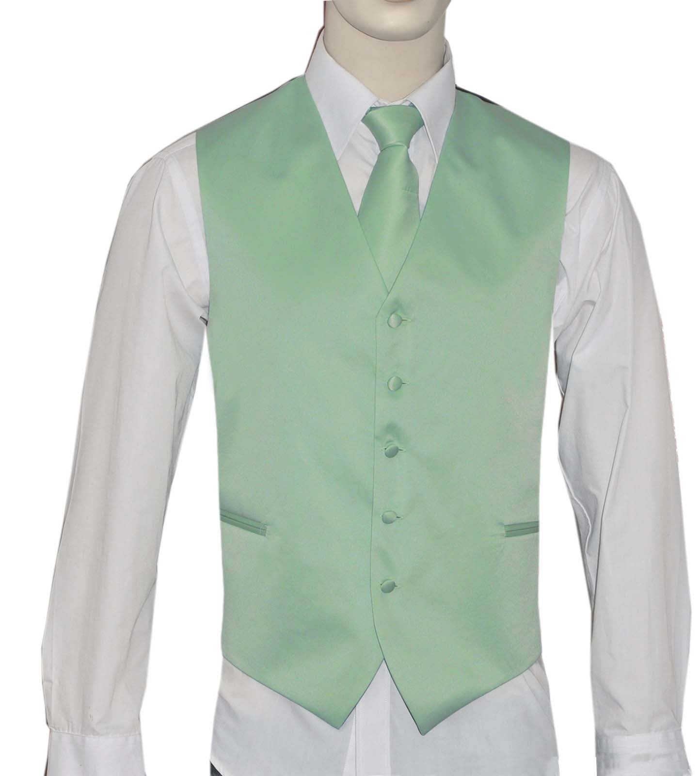 Mint Vest and Tie Set