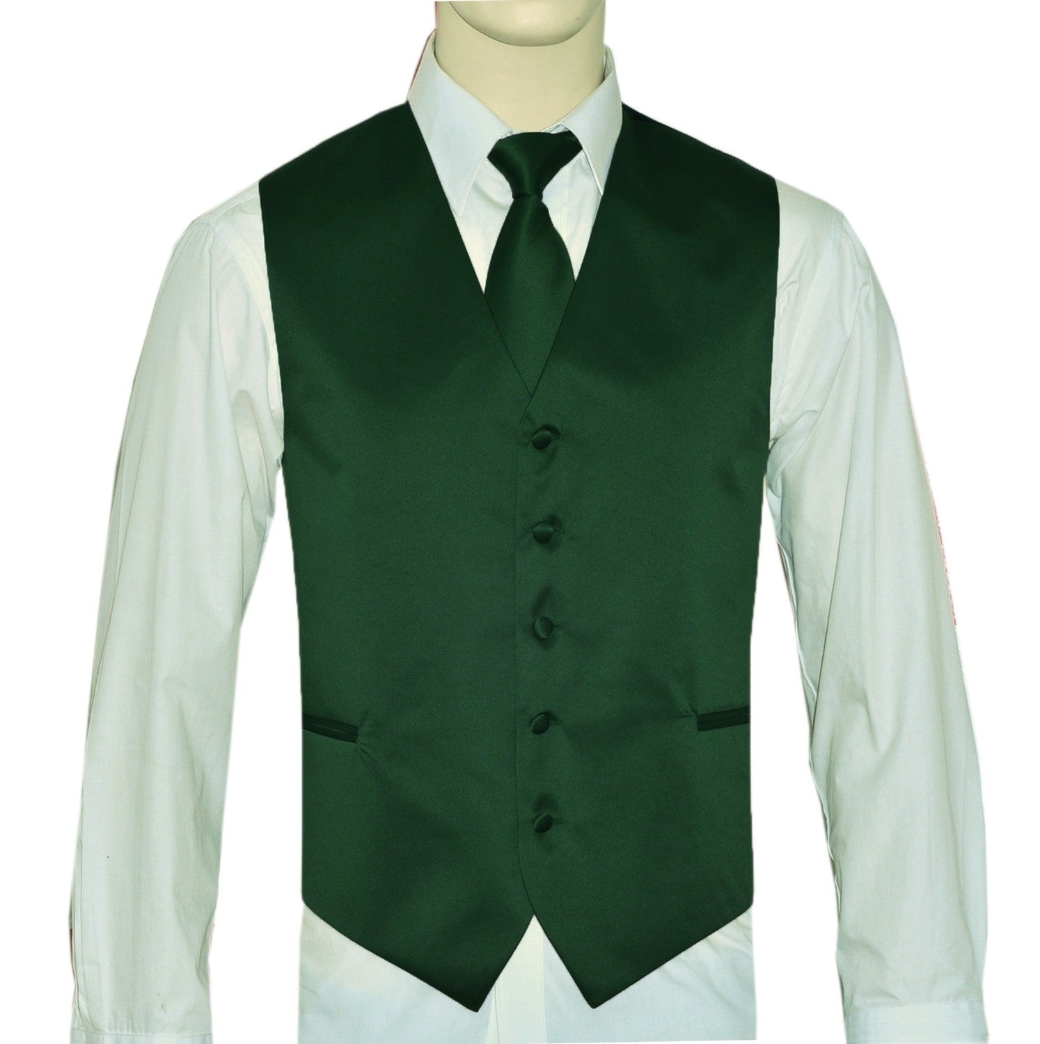 Forest Green Vest and Tie Set