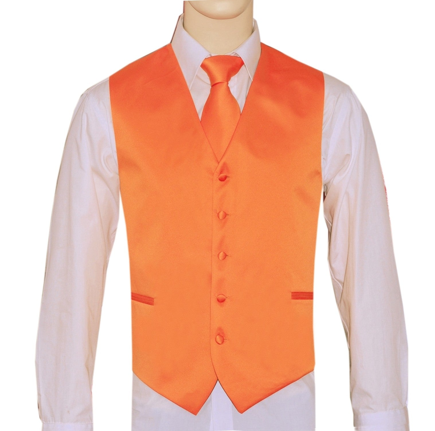 Orange Vest and Tie Set