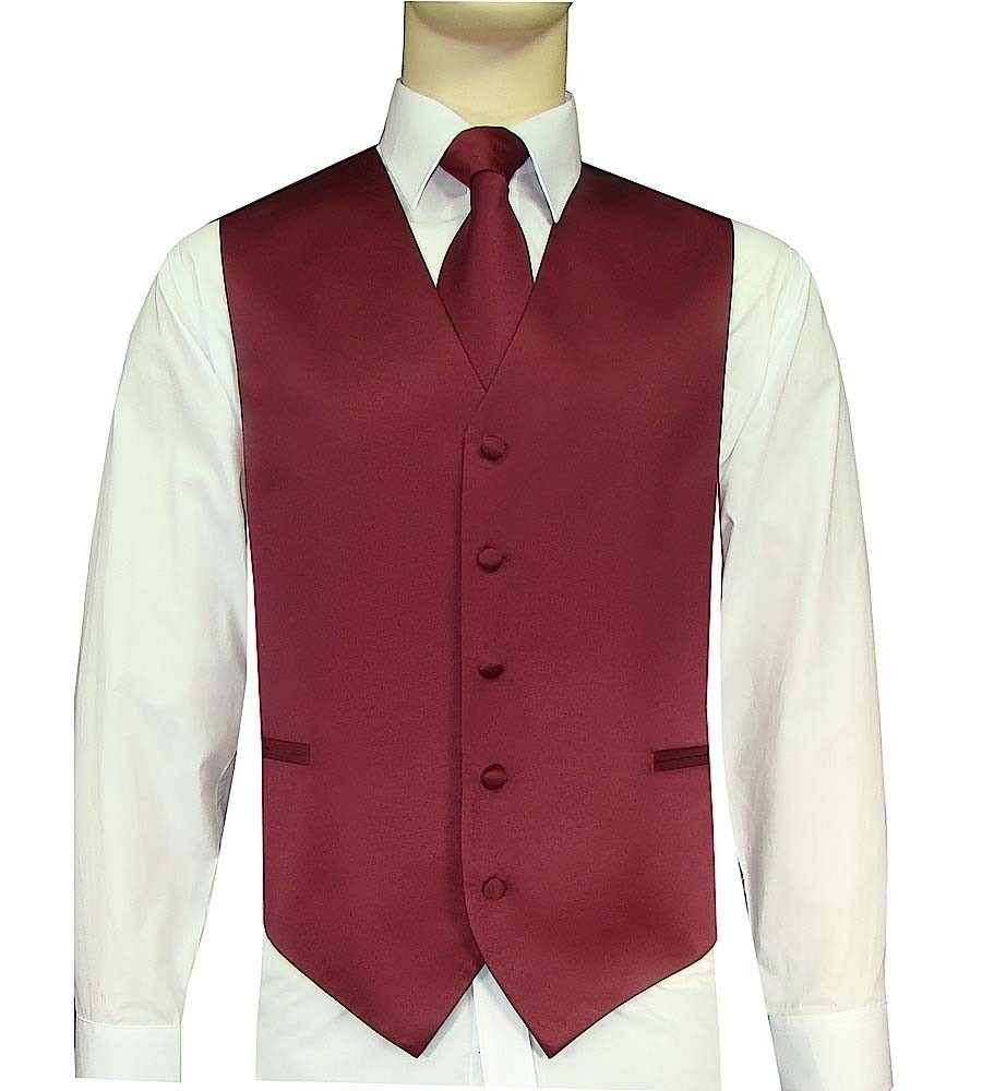 Wine Vest and Tie Set