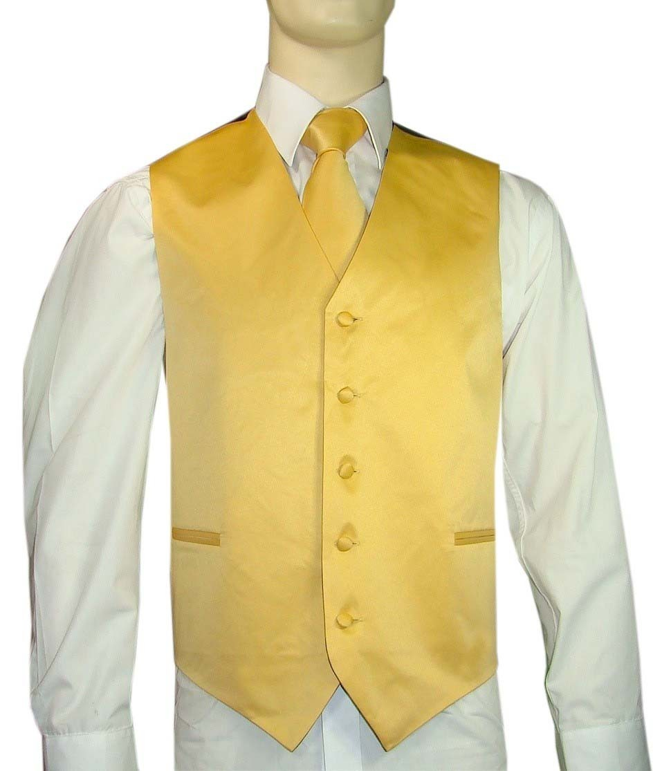 Yellow Vest and Tie Set
