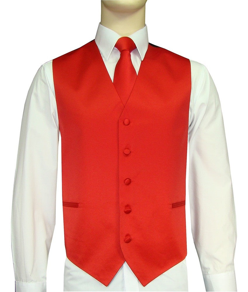 Red Vest and Tie Set