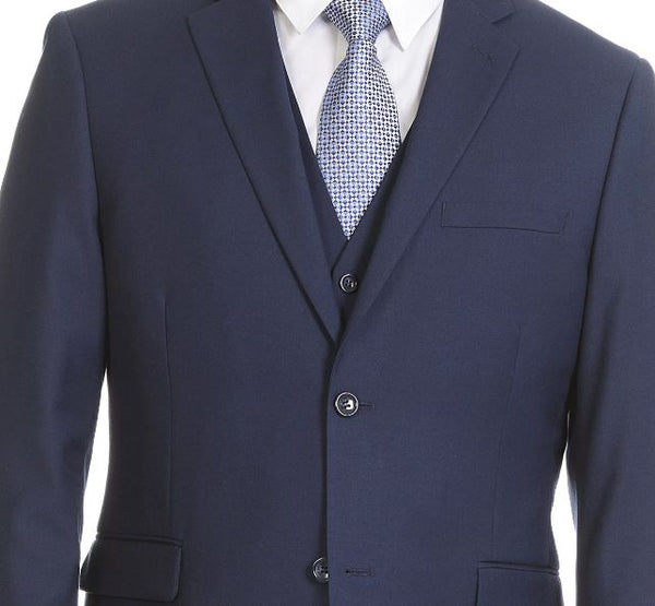 Dark Blue Three Piece Wedding Suit
