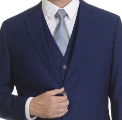 Indigo Three Piece Wedding Suit