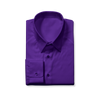 Slim Cut Dark Purple Dress Shirt
