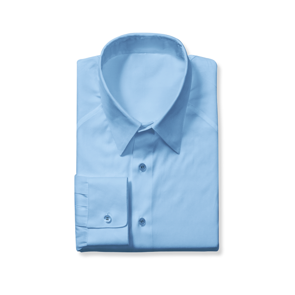Slim Cut Light Blue Dress Shirt