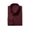 Slim Cut Maroon Dress Shirt