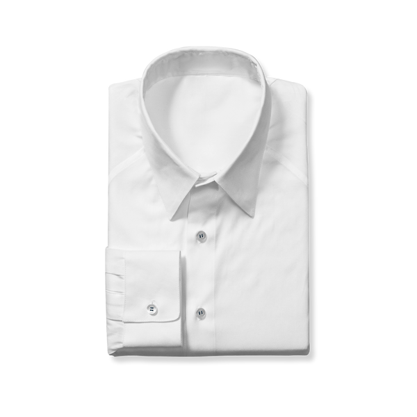 Slim Cut White Dress Shirt