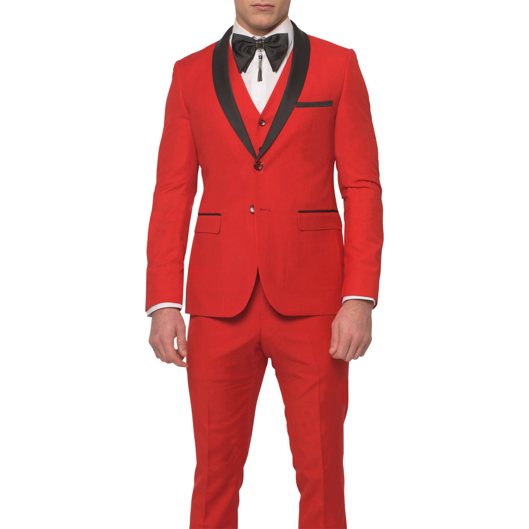 Red Tuxedo With Vest