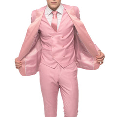 Pink Tuxedo With Double Breasted Vest