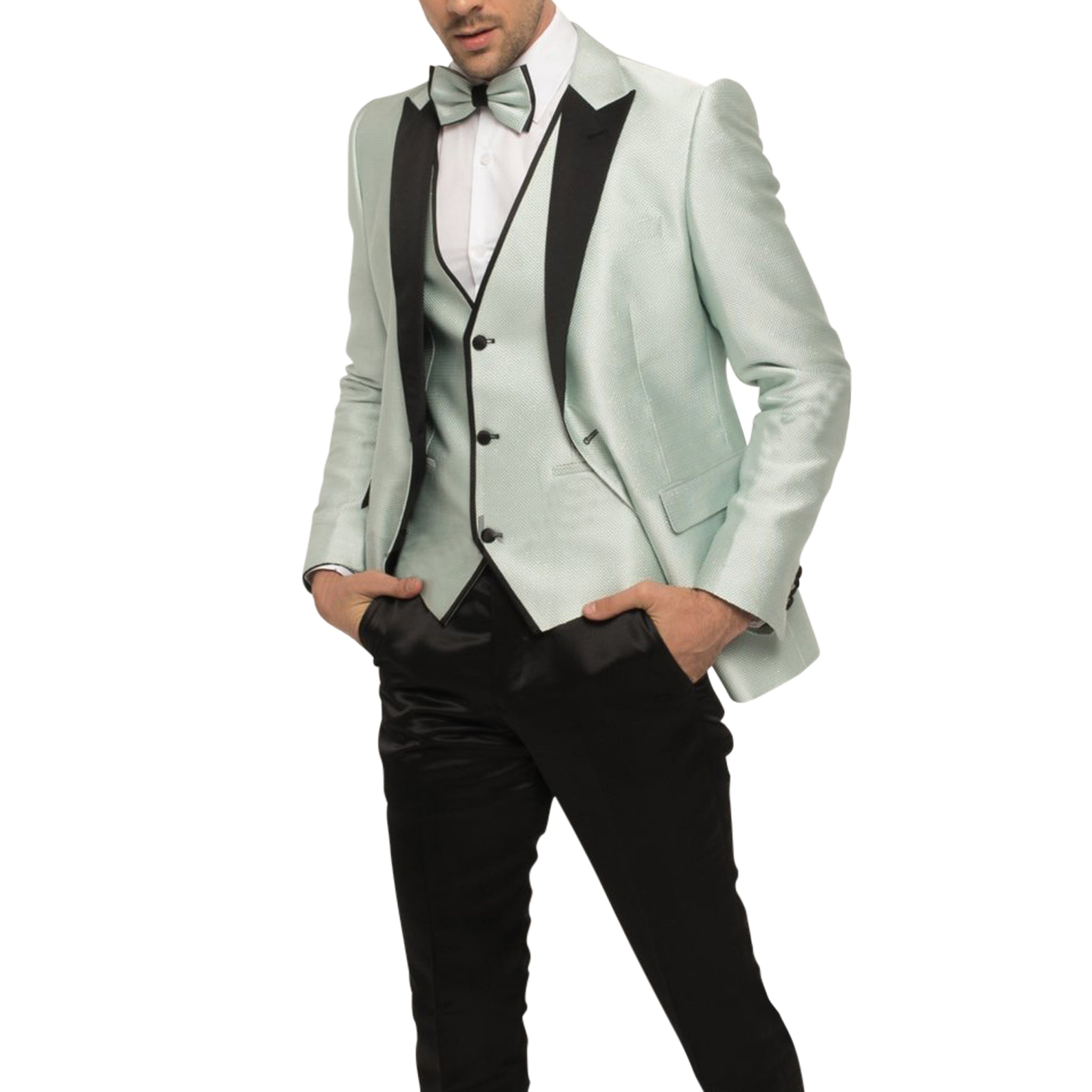 Mint Tuxedo With Mint Vest and Bowtie