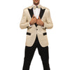 Ivory Tuxedo With Ivory Stripe Pants