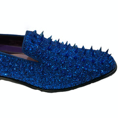 Blue on Blue Spiked Shoes