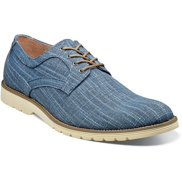 Blue - Plain Toe Oxford - EVA Sole