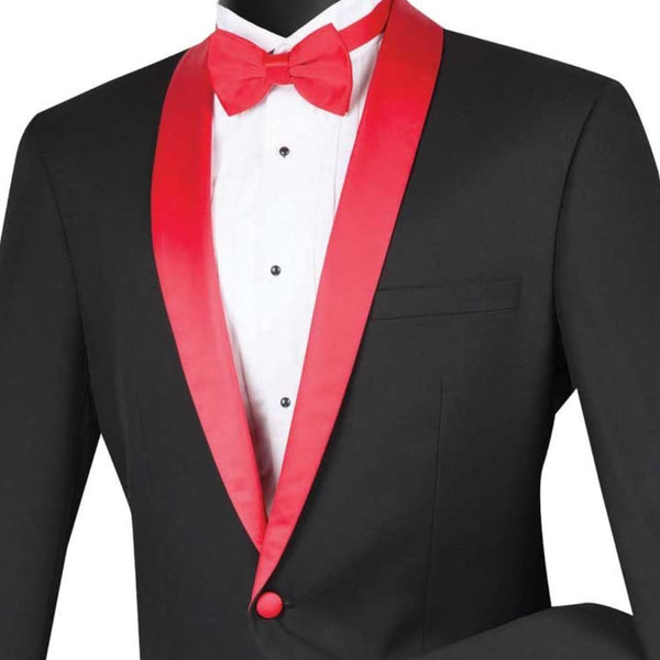 Black and Red Tuxedo