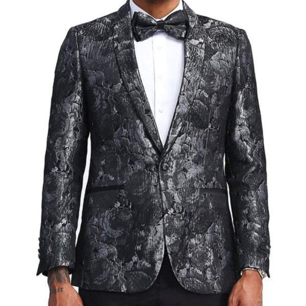 Black and Silver Floral Blazer