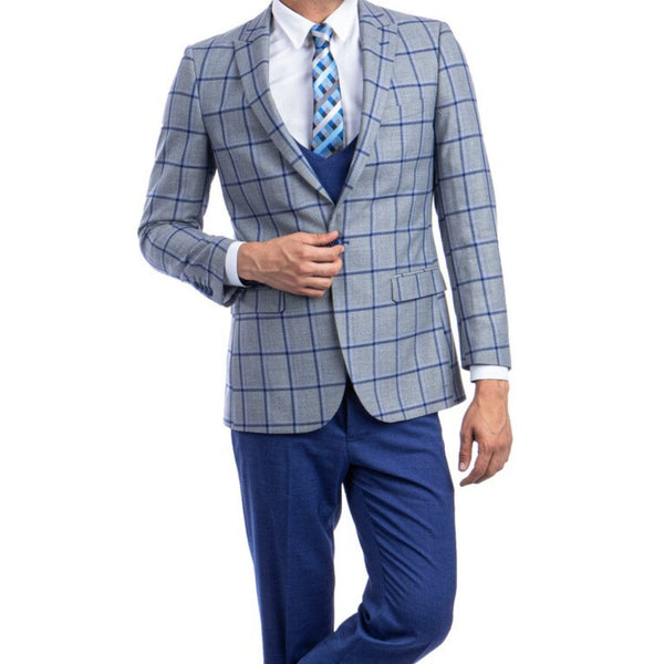 Grey/Blue Fall Suit
