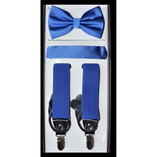 Royal Blue  Suspender Bow-tie Set