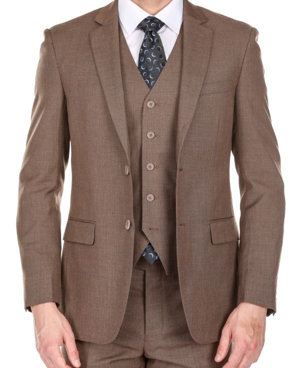 Slim Brown Suit - Three Piece