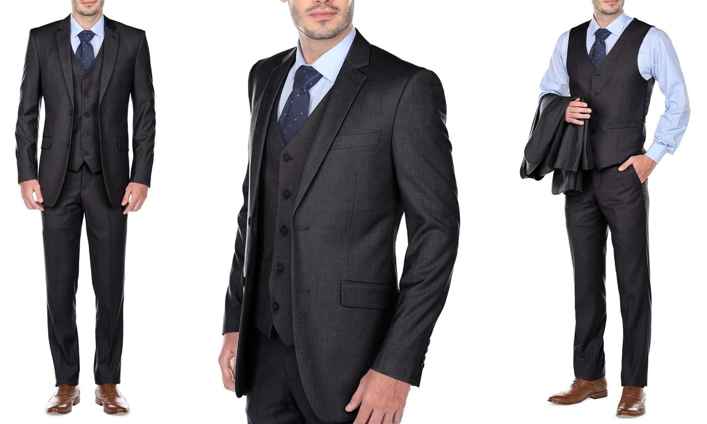 Charcoal Grey Suit - Three Piece