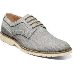 Gray - Plain Toe Oxford - EVA Sole