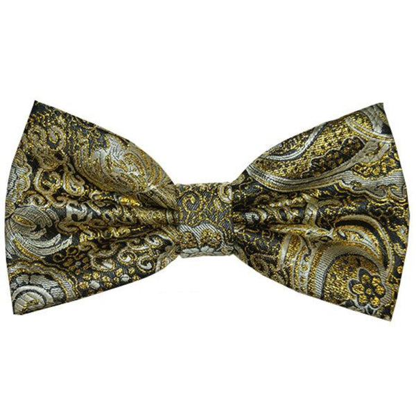Gold and Black Prom Bowtie