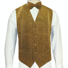 Gold Sparkle Vest and Bowtie