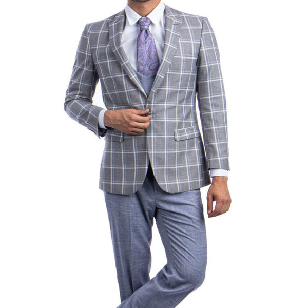 Grey/White Fall Suit