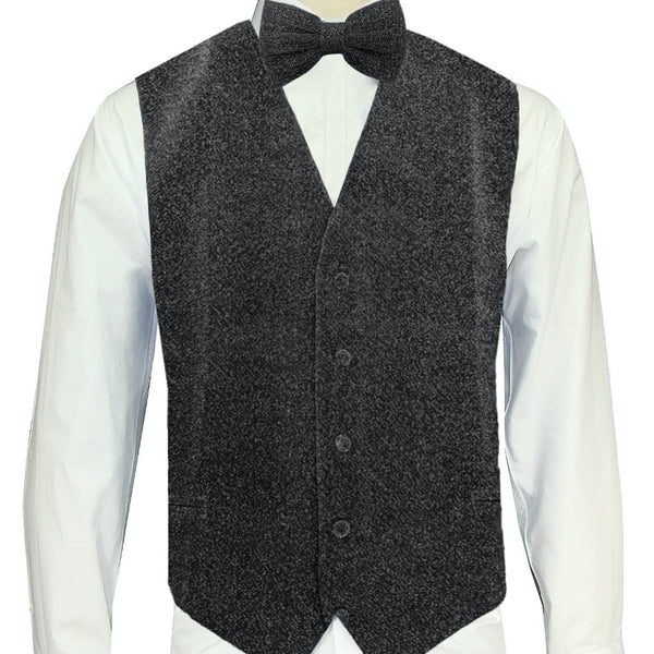 Grey Sparkle Vest and Bowtie
