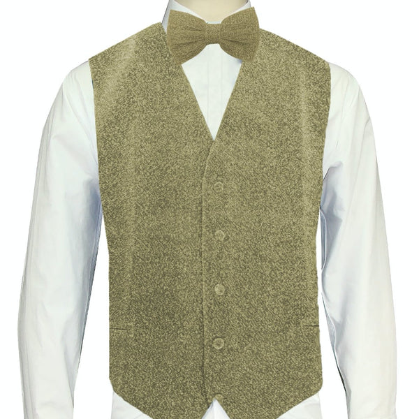 Ivory Sparkle Vest and Bowtie