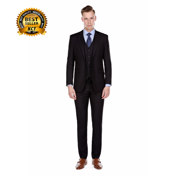 Slim Black Suit - Three Piece